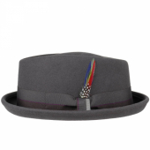 Stetson Diamond Woolfelt Crushable Hat Grey