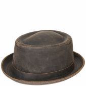 Stetson Odenton Pork Pie Hat Brown
