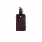 Filson Bridle Leather Luggage Tag Brown