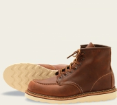 Classic Moc Style No. 1907 - Copper Rough & Tough Leather