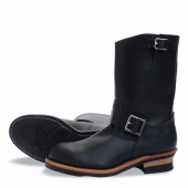 Engineer Style No 2268 - Steel Toe, Black Chrome Leather