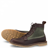 Wacouta Style No 3336 - Briar Oil Slick Leather/Olive Waxed Canvas