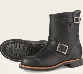 Short Engineer Style No 3354 - Black Boundary Leather