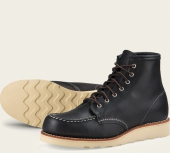 6-Inch Moc Style No 3373 - Black Boundary Leather