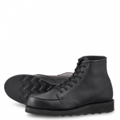 6 inch Moc Style No 3380 - Black Boundary Leather