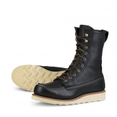 8 inch Winter Moc Style No 3424 - Black Boundary Leather