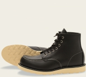 Classic Moc Style No 8130 - Black Chrome Leather