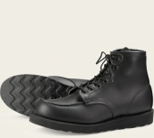 6-inch Moc Style No 8137 - Black Skagway Leather