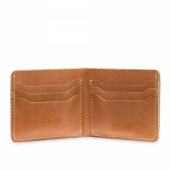 Bifold Card London Veg Tan