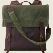 Wacouta Backpack Olive Waxed Canvas/Briar Oil Slick