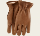 Nutmeg Buckskin Leather - Lined Glove