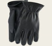 Black Buckskin Leather - Lined Glove