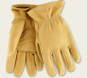 Yellow Buckskin Leather - Unlined Glove