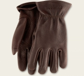 Brown Buckskin Leather - Unlined Glove