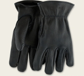 Black Buckskin Leather - Unlined Glove