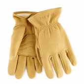 Yellow Buckskin Leather - Lined Glove