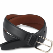 Black Featherstone Leather Belt