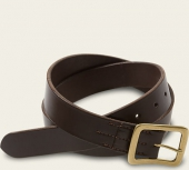 Dark Brown Narrow Vegetable Tanned Leather Belt - English Bridle Leather