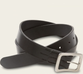 Black Narrow Vegetable Tanned Leather Belt - English Bridle Leather