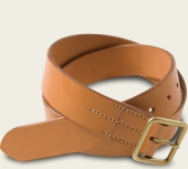 Natural Tan Vegetable Tanned Leather Belt - English Bridle Leather