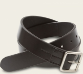 Black Vegetable Tanned Leather Belt - English Bridle Leather