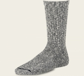 Cotton Ragg Socks - Black/White