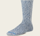 Cotton Ragg Socks - Blue/White
