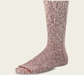Cotton Ragg Socks - Rust/White