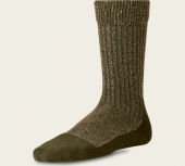 Deep Toe Capped Wool Sock Olive