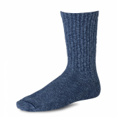 Cotton Ragg Over Dyed Tonal Sock Navy/Blue