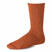 Cotton Ragg Over Dyed Tonal Sock Rust/Burg