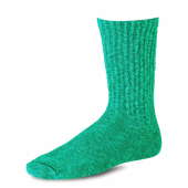 Cotton Ragg Over Dyed Tonal Sock Green/Dark Green