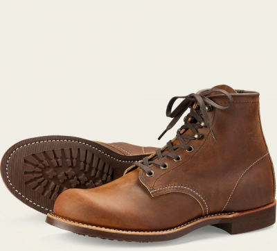 Blacksmith Style No 3343 - Copper Rough & Tough Leather i gruppen Red Wing Stockholm / Herr hos Sivletto - Skylark AB (rws3343)