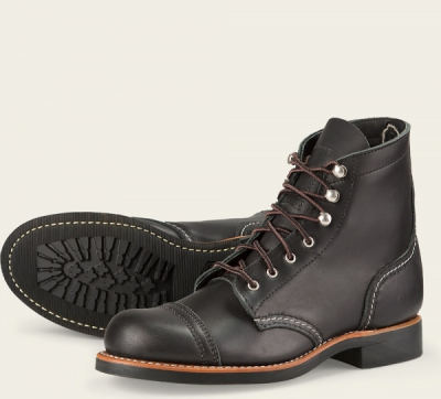 Iron Ranger Style No 3366 - Black Boundary Leather i gruppen Red Wing Stockholm / Dam / Iron Ranger hos Sivletto - Skylark AB (rws3366)