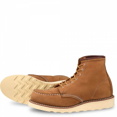 6-inch Moc Style No 3372 - Honey Chinook Leather i gruppen Red Wing Stockholm / Dam / Moc Toe hos Sivletto (rws3372)