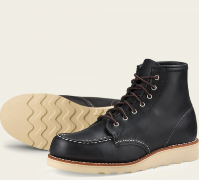 6-Inch Moc Style No 3373 - Black Boundary Leather i gruppen Red Wing Stockholm / Dam / Moc Toe hos Sivletto - Skylark AB (rws3373)