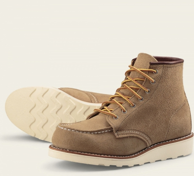 6-inch Moc Style No 3376 - Sand Mohave Leather i gruppen Red Wing Stockholm / Dam / Moc Toe hos Sivletto - Skylark AB (rws3376)