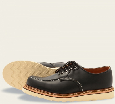 Classic Oxford Style No 8106 - Black Chrome Leather i gruppen Red Wing Stockholm / Herr / Moc Toe hos Sivletto - Skylark AB (rws8106)