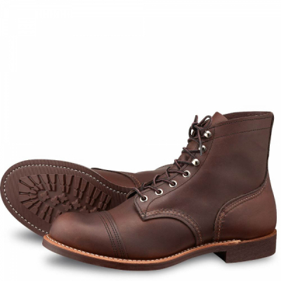 Iron Ranger Style No 8111 - Amber Harness Leather i gruppen Red Wing Stockholm / Herr / Iron Ranger hos Sivletto - Skylark AB (rws8111vibram)