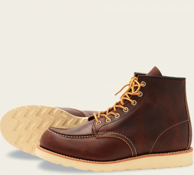 Classic Moc Style No 8138 - Briar Oil Slick Leather i gruppen Red Wing Stockholm / Herr / Moc Toe hos Sivletto - Skylark AB (rws8138)