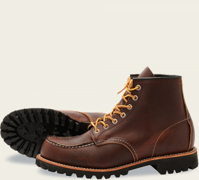 Roughneck Style No 8146 - Briar Oil Slick Leather i gruppen Red Wing Stockholm / Herr / Moc Toe hos Sivletto - Skylark AB (rws8146)