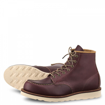 6 inch Moc Style No 8856 - Oxblood Mesa Leather i gruppen Red Wing Stockholm / Herr / Moc Toe hos Sivletto - Skylark AB (rws8856)
