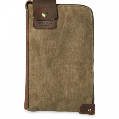 Small Wacouta Gear Pouch Tan Waxed Canvas i gruppen Red Wing Stockholm / Accessoarer / Väskor hos Sivletto - Skylark AB (rws95065)