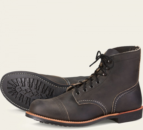 0fd9e649eb4 Red Wing Shoes - Iron Ranger Style No 8086 - Charcoal Rough & Tough Leather