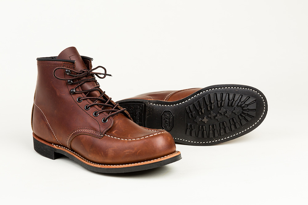 320c0bc30a7 ... Amber Porter and Black Harness leather, civilized enough for the  office, rugged enough for weekends at the cabin. It's the iconic Red Wing  Moc Toe boot, ...